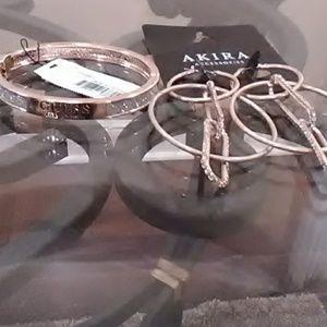 Bracelet & Earrings (Guess & Akira)